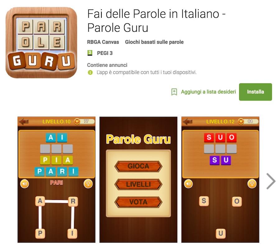 Soluzioni fai delle parole in italiano parole guru for Soluzioni gioco giardino delle parole