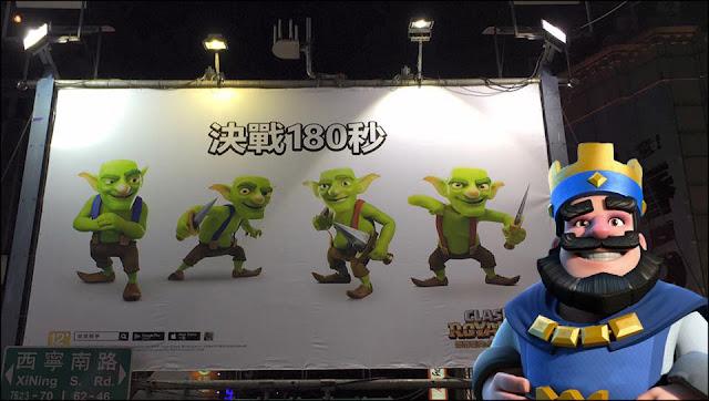 Evento na China com decoração de Clash Royale