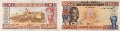 Guinea: Billete de 1000 francos guineanos de 1985
