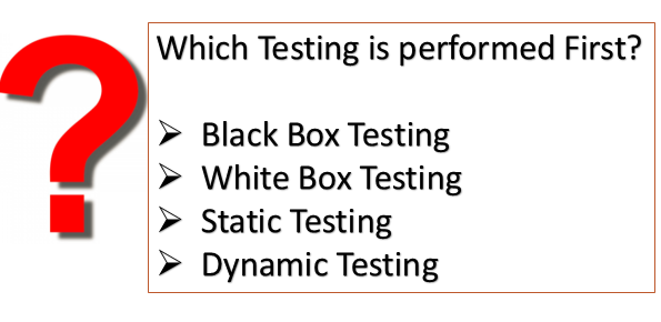 Which Testing is performed first