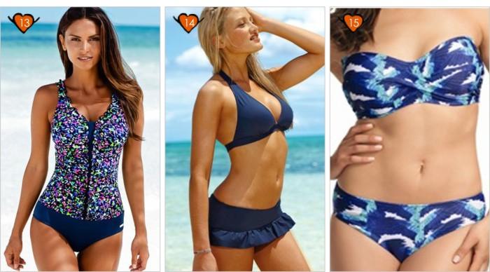 Modelos de bikini de talla grande para mujer