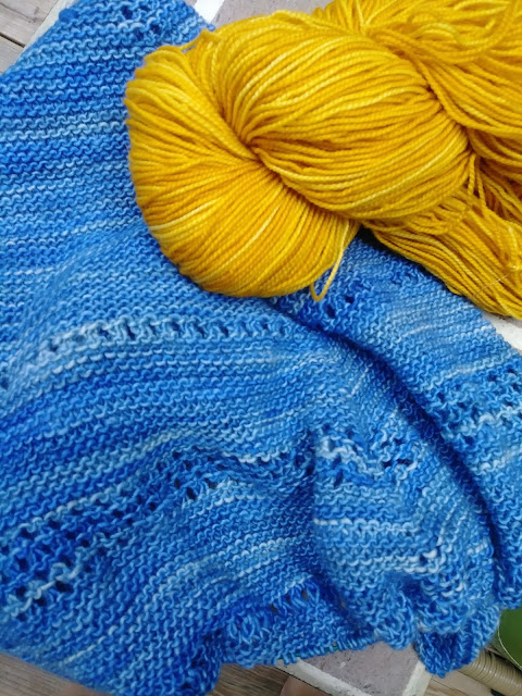 purple and yellow prayer shawl