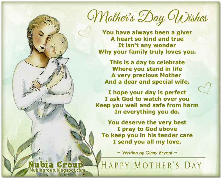 Wifes Saying On Mothers Day Sayings: * Nubia_group Inspiration *: Mother's Day Wishes