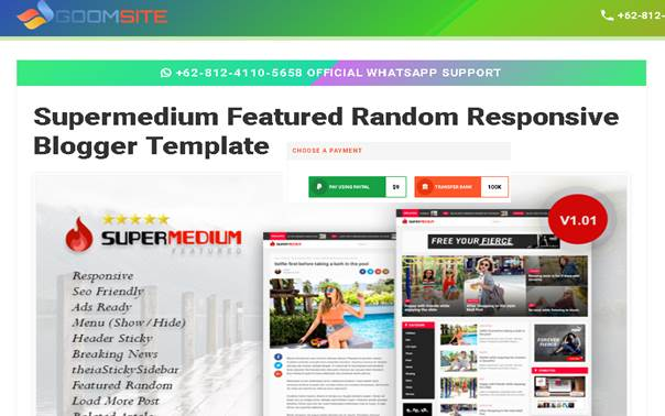 Template Premium Supermedium Karya Basri Matindas - Blog Mas Hendra