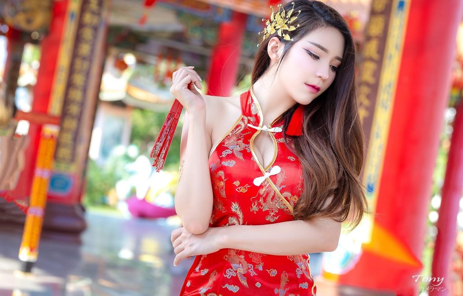 Chinese New Year Janet Kanokwan Saesim | XEM GÁI