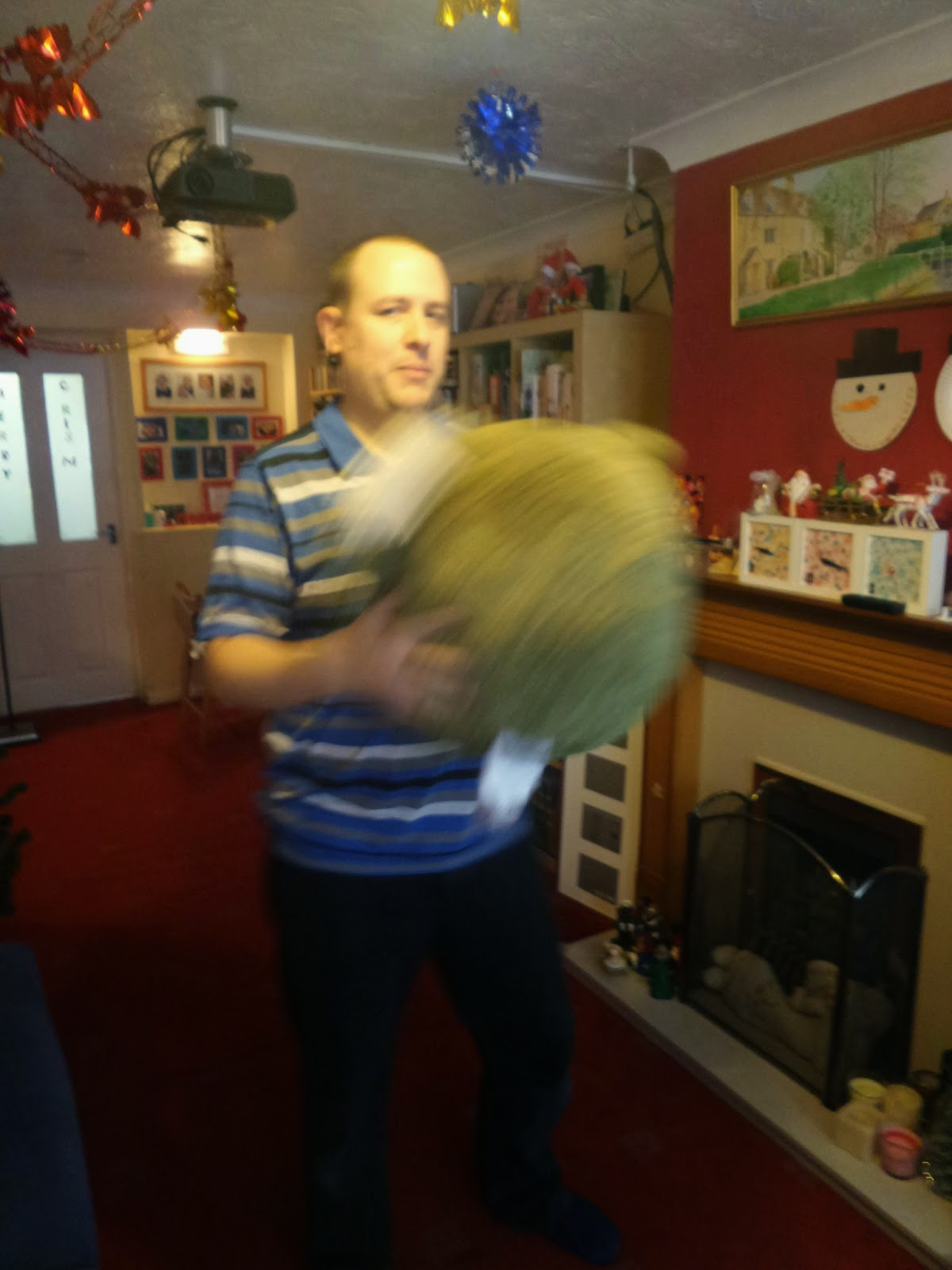 Daddy dancing with Rolo