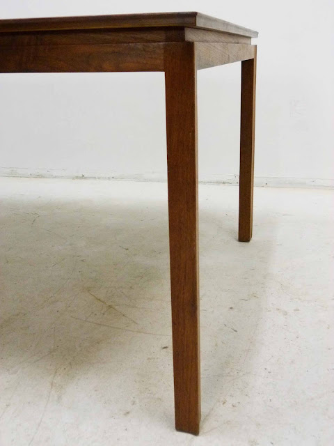 Edward J Wormley Modern Walnut Dining table by Dunbar Corner Detail Right Leg
