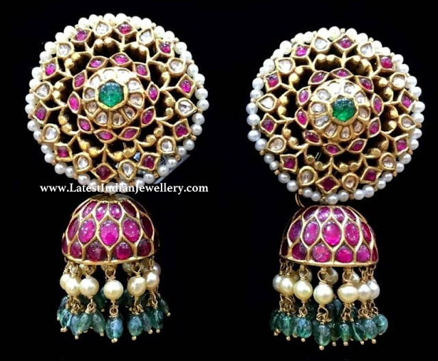 South Indian Kundan Jhumki