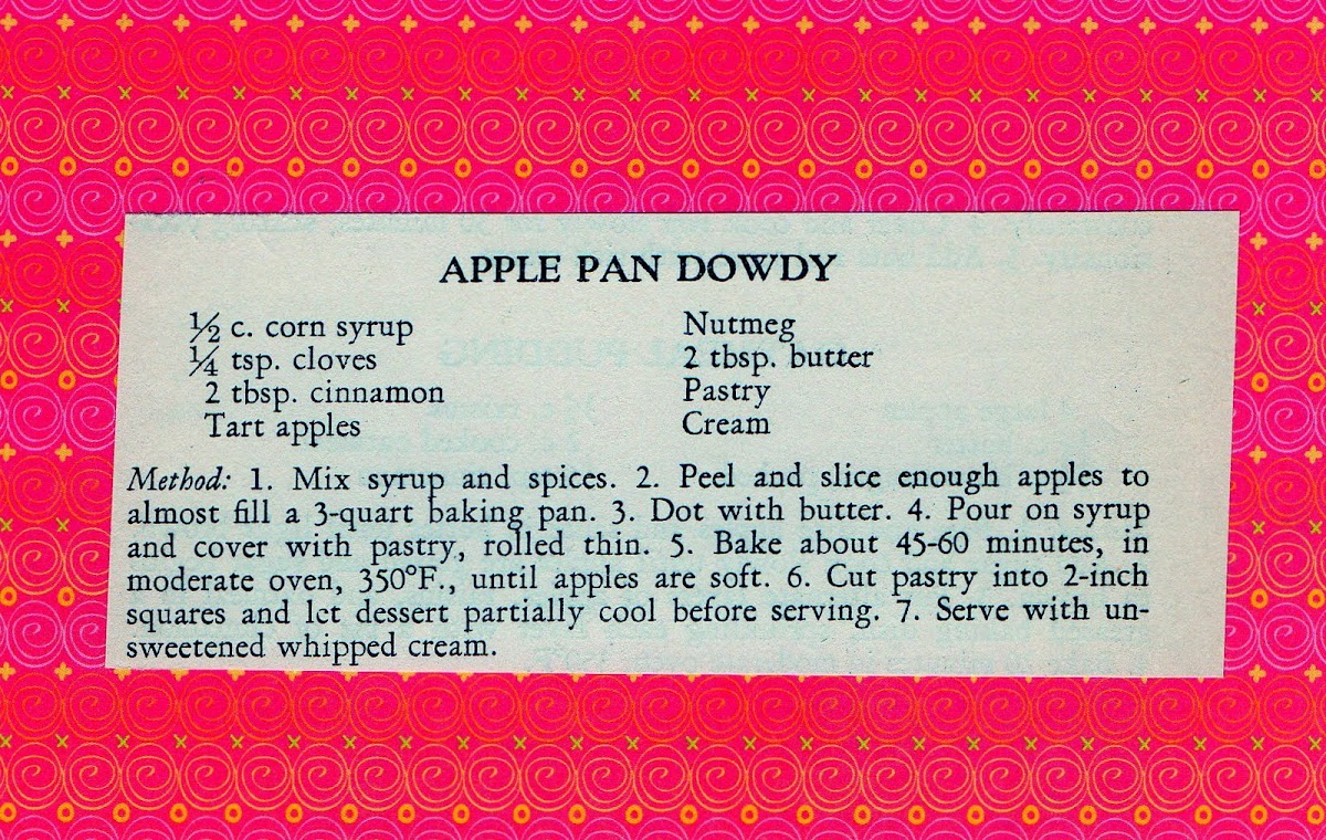 Apple Pan Dowdy (quick recipe)