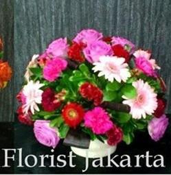 Rangkaian Bunga Dengan Bentuk Bulat Yang Cantik Jual Mawar Krisan