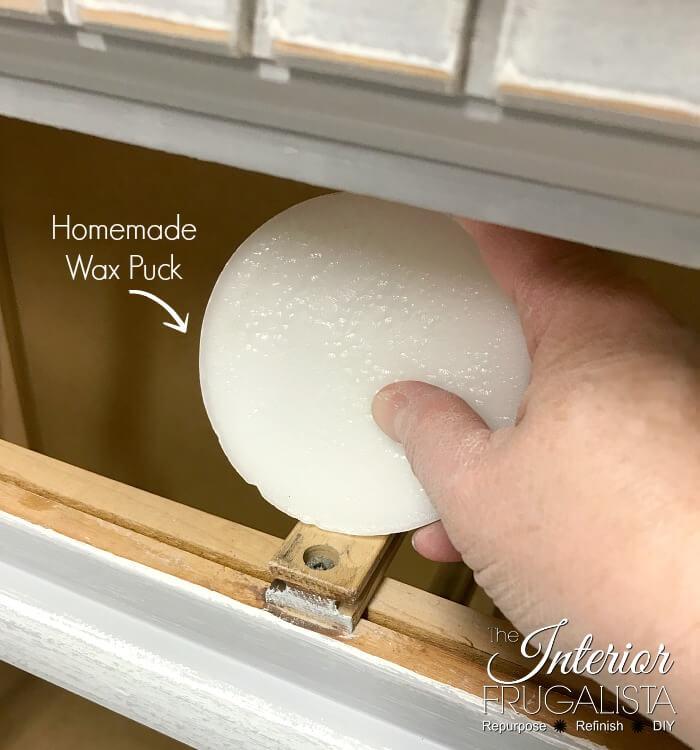 Vintage Farmhouse Dresser Drawer Slides Waxed