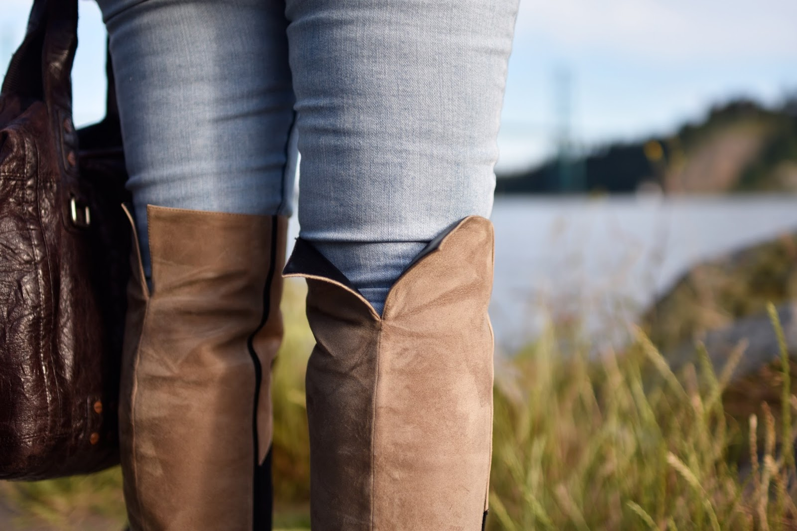 Monika Faulkner personal style inspiration - Aldo suede over-the-knee boots
