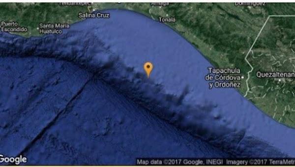 Se registra nuevo sismo de 4.9 grados en Chiapas