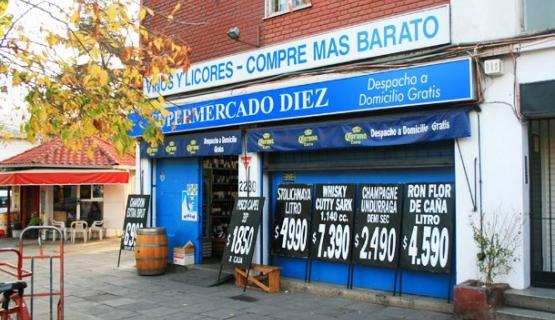 Comprar vinho no Supermercado Diez em Santiago