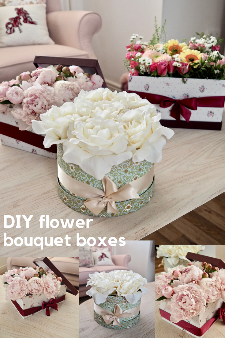 Diy flower bouquet box the dainty dress diaries please pin this image to your pinterest boards izmirmasajfo
