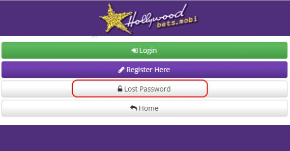Lost Password - Hollywoodbets - Login - Account - Mobi - Help - FAQs