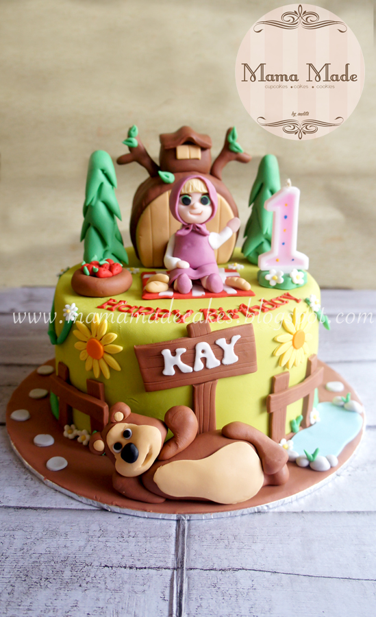 Masha And The Bear Cake And Cookies Package Mama Made Cakes