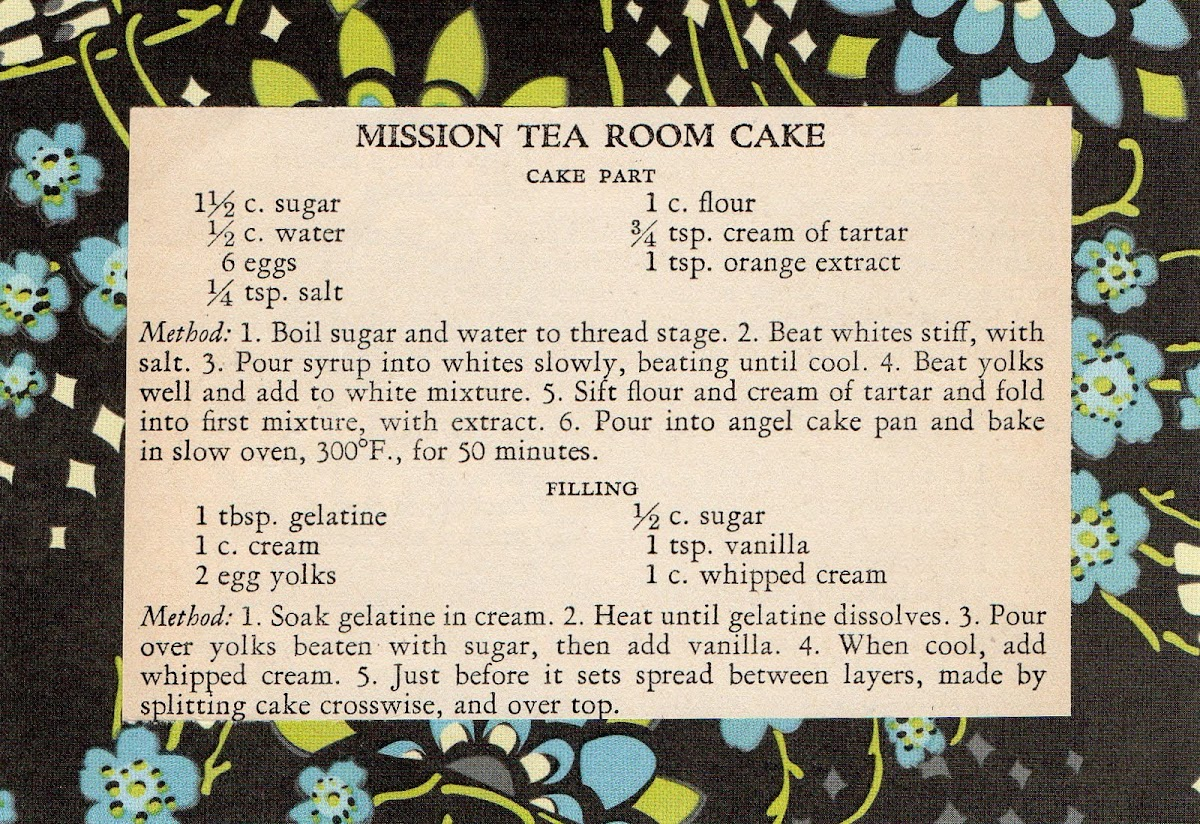 Mission Tea Room Cake (quick recipe)