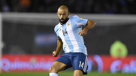 Tiền vệ Javier Mascherano (Argentina).