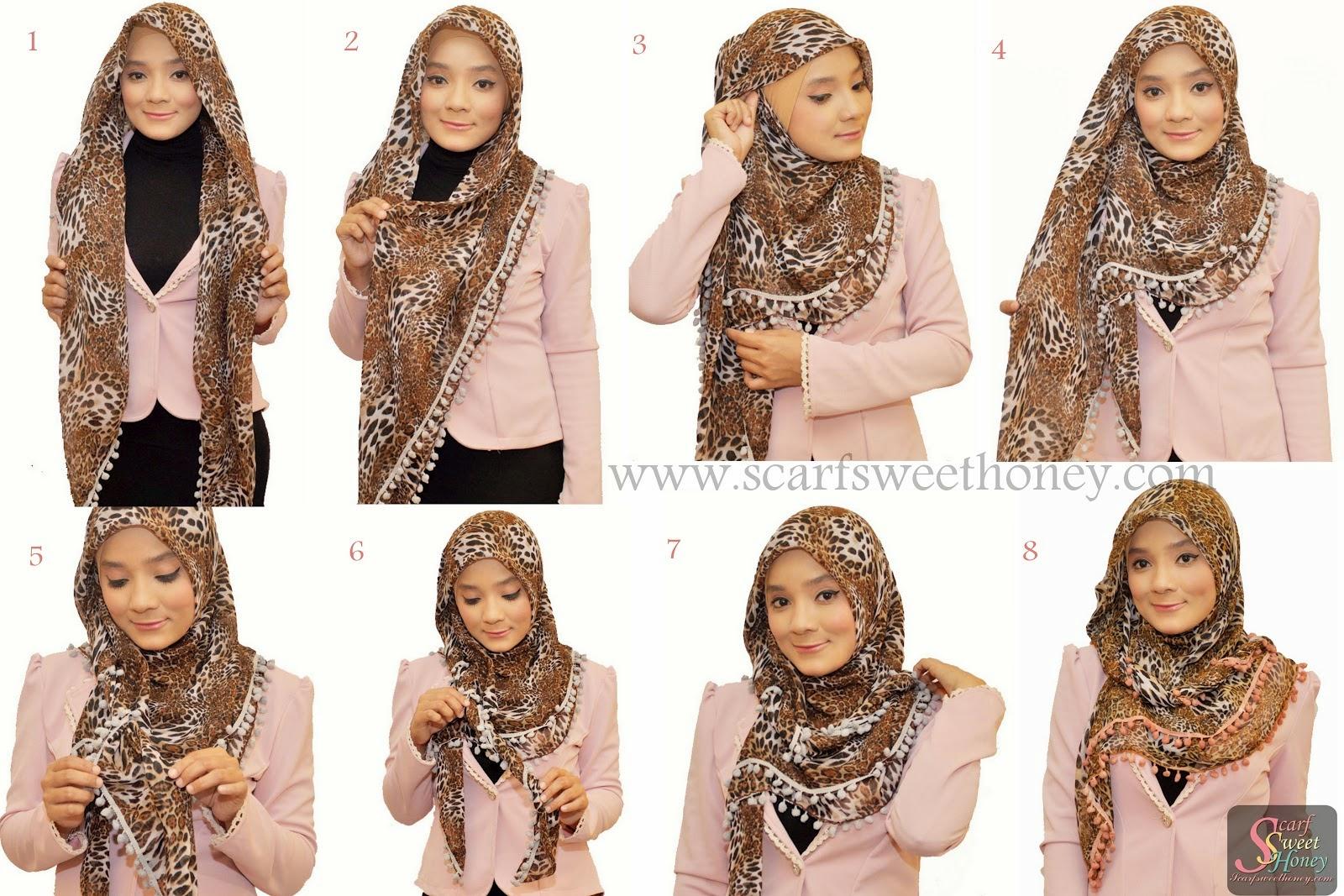 Tutorial Hijab Segi Empat Untuk Acara Resmi Tutorial Hijab Paling