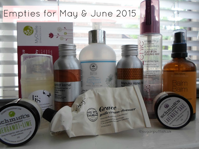 Sugarpuffish's Natural Skincare Empties June 2015 Beauty Review