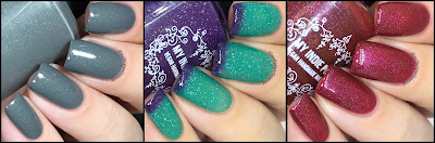 my indie polish where the wild things are swatches