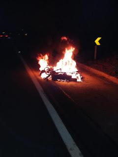 Motoqueiro morre após moto explodir em grave acidente na BR-230