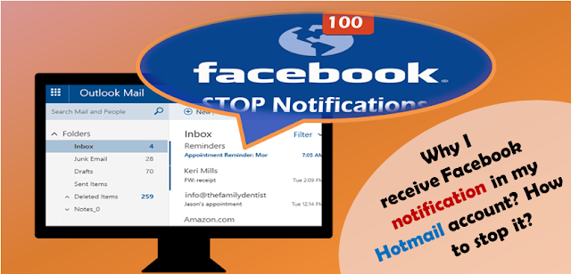 stop facebook notification from hotmail
