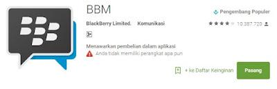 Cara Instal Apps Untuk BBM Mod Google Play Terbaru