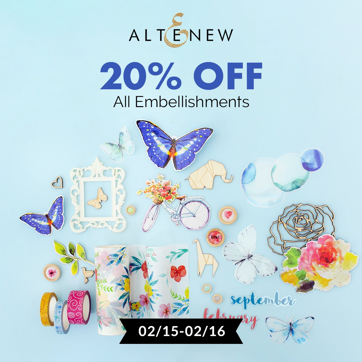 20% off Altenew Embellishments