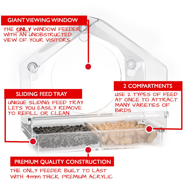 See our review of the Birds-I-View Bird Feeder from Nature Anywhere.