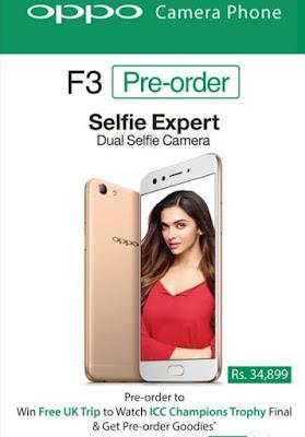Oppo F3 Camera Phone Selfie Expert Dual Selfie Camera Pre Orders