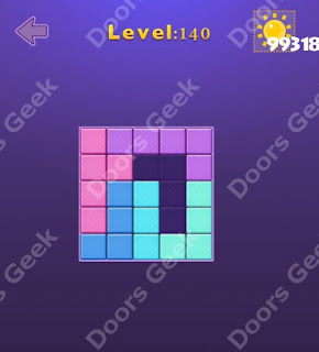 Cheats, Solutions, Walkthrough for Move Blocks Easy Level 140