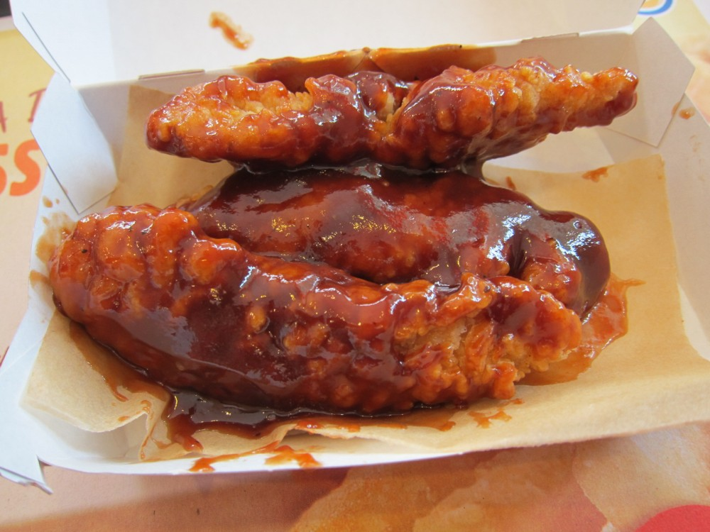 Review Burger King Honey Bbq Chicken Strips Brand Eating