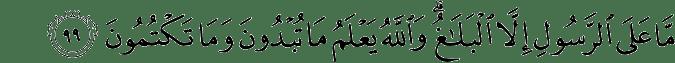 Surat Al-Maidah Ayat 99