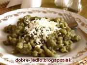 Špenátové halušky s tvarohom - recept