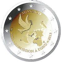 Monaco 2 euroa kolikko 2013