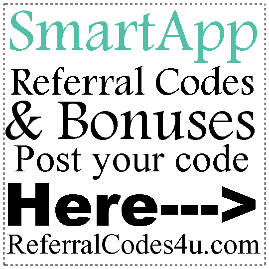 SmartApp Referral Codes 2016-2021, SmartApp Refer A Friend, SmartApp Reviews