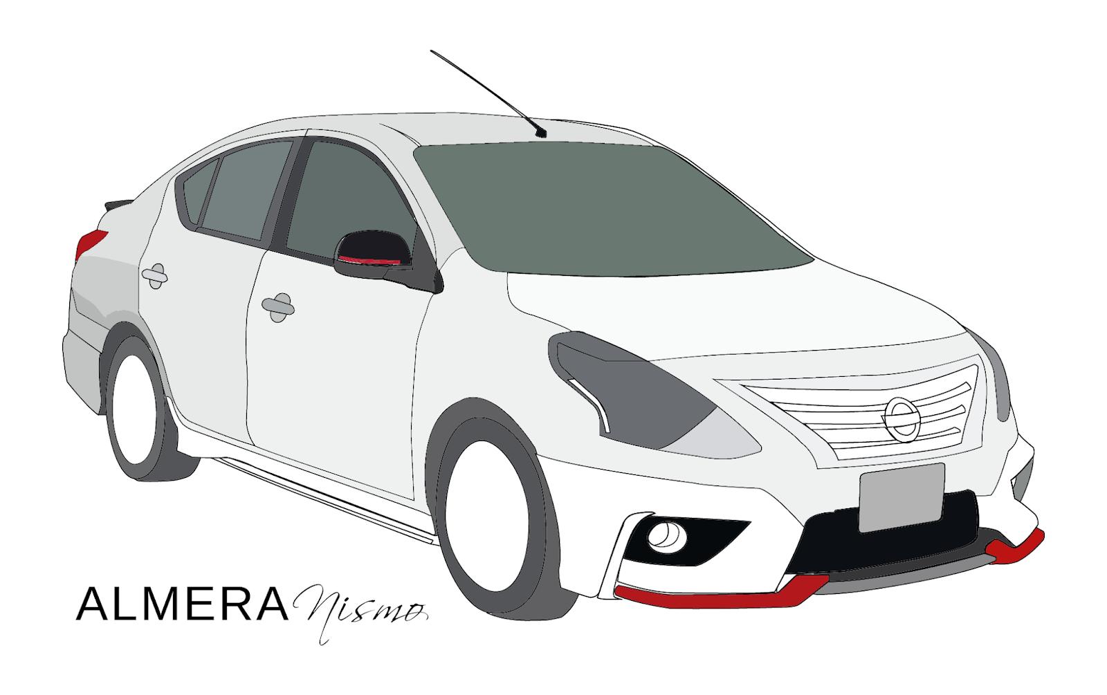 Tracing Vector Nissan Almera Nismo 2016 Black Entri Yang Lain