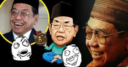gambar karikatur lucu gusdur ketawa
