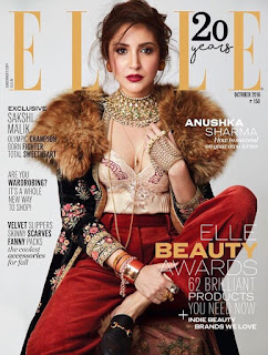 Anushka Sharma on cover of ELLE India October 2016