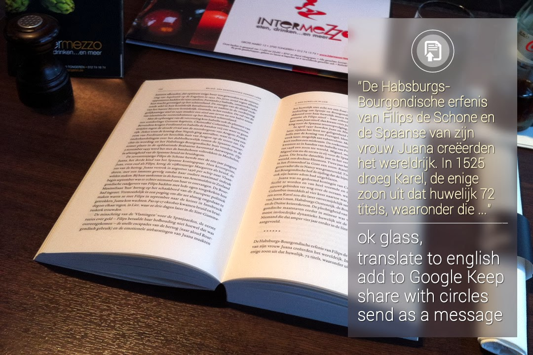 Imagine life with Google Glass: Optical Character Recognition - OCR