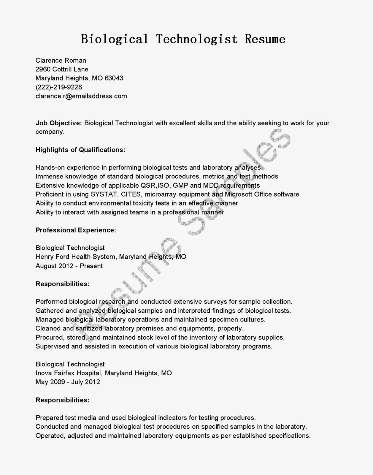 food service management resume