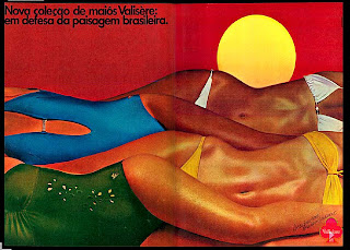propaganda maiôs Valisere - 1979.  moda anos 70; propaganda anos 70; história da década de 70; reclames anos 70; brazil in the 70s; Oswaldo Hernandez