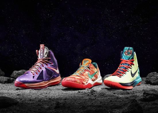 quality design 52e8c 3cb69 ... three latest signature shoes from LeBron James, Kobe Bryant and Kevin  Durant. The Nike LeBron X comes in a laser purple, strata grey and total  crimson ...