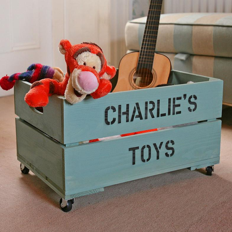 Charmant Toy Crate Personalized With Childu0027s Name