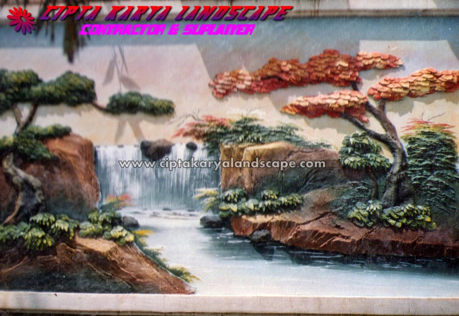 taman dinding relief 3D | CIPTA KARYA LANDSCAPE : jasa tukang taman