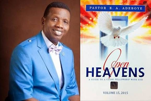 Open Heavens 13 October 2015: Tuesday daily devotion by Pastor E. A. Adeboye