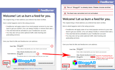 Membuat URL FeedBurner Blog