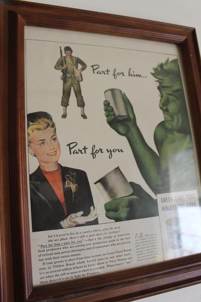 1940's green giant war era ad via Va Voom Vintage